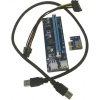 Адаптер Foxline 6PIN PCI-E x16 Riser board, w/PCI-E x1 RC-006C